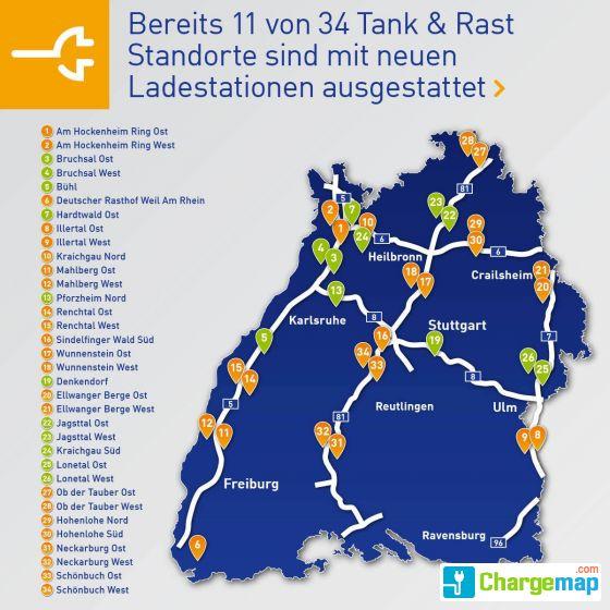 autobahnraststätten a7 karte EnBW   A7 Raststätte Lonetal West (Ladestation 1) : quick charging  autobahnraststätten a7 karte