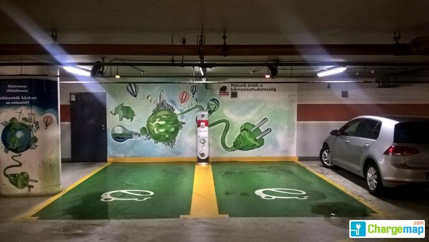 Mammut 2 bev s rl k zpont borne de charge budapest for Assurance voiture garage parking