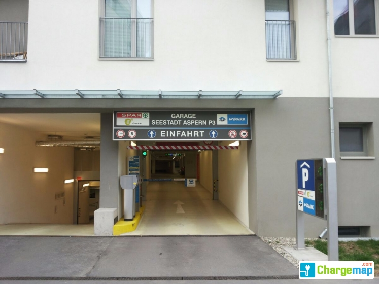Wipark garage seestadt aspern p3 borne de charge wien for Garage mobile rennes