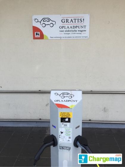 Delhaize Oostende Hazegra Oplaadstation In Oostende