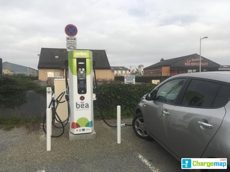 sde35 bain de bretagne 40kw charging station in bain de bretagne