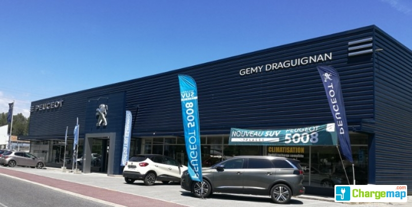 peugeot gemy draguignan charging station in trans en provence. Black Bedroom Furniture Sets. Home Design Ideas