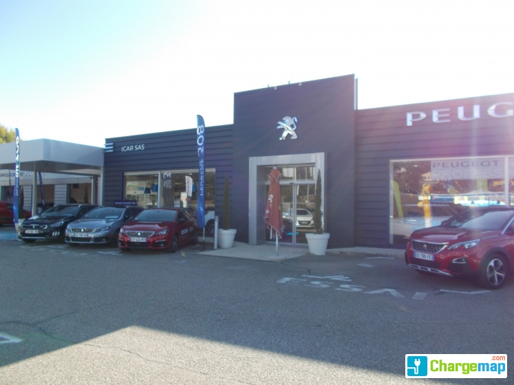 icar peugeot saint chamond charging station in saint chamond. Black Bedroom Furniture Sets. Home Design Ideas