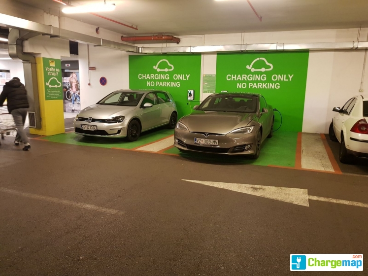 City Center One West Charging Station In Zagreb