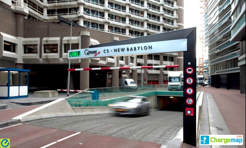 Q-Park Parkeergarage - CS - New Babylon : ladestasjon i Den Haag