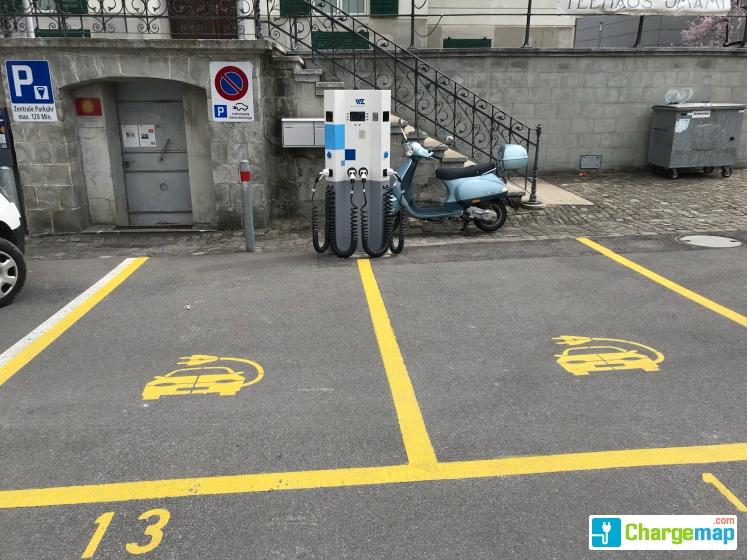 Cham Rigiplatz Charging Station In Cham