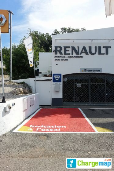 renault deambrosi cagnes sur mer oplaadstation in. Black Bedroom Furniture Sets. Home Design Ideas