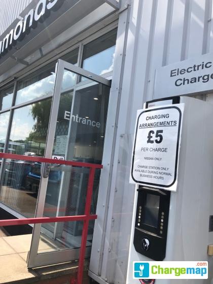 Marshalls Nissan Bury St Edmunds : charging station in Suffolk