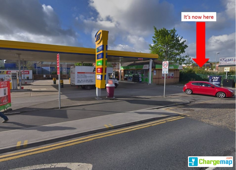 Jet Petrol Station Charging Station In Leeds