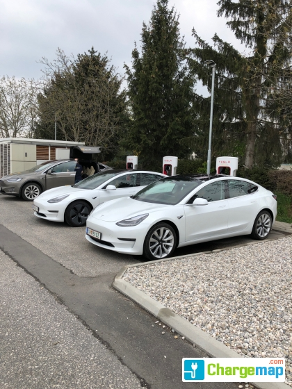 tesla supercharger st valentin borne de charge rapide sankt valentin. Black Bedroom Furniture Sets. Home Design Ideas