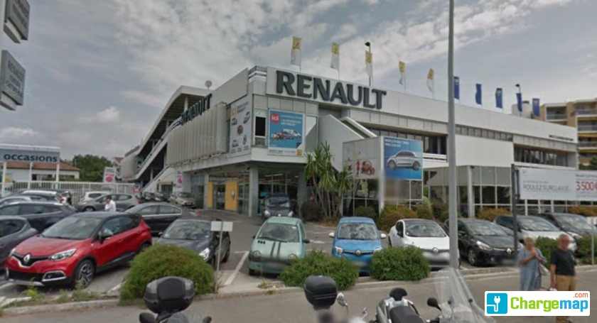 renault cagnes oplaadstation in cagnes sur mer. Black Bedroom Furniture Sets. Home Design Ideas