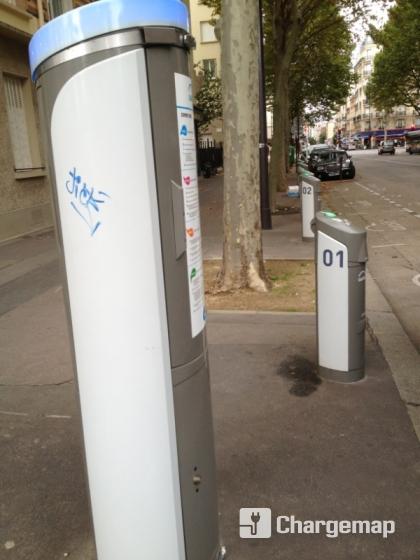 Autolib 39 8 avenue de la porte de montrouge paris borne for Porte montrouge