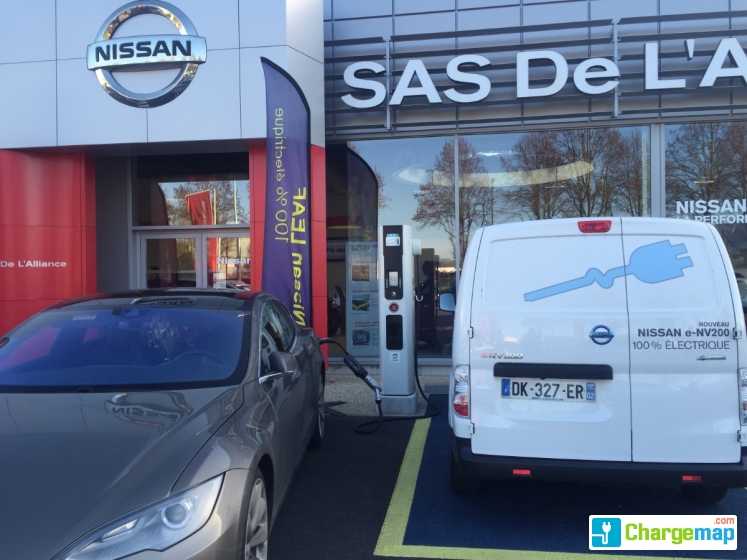 Sas de l 39 alliance garage nissan borne de charge rapide for Garage nissan saint ouen l aumone