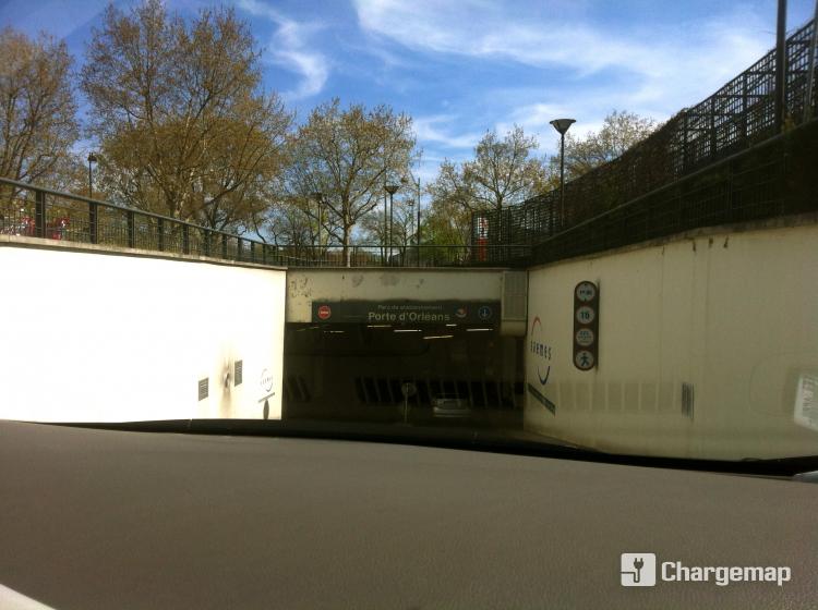 Parking porte d 39 orl ans borne de charge paris for Porte d orleans