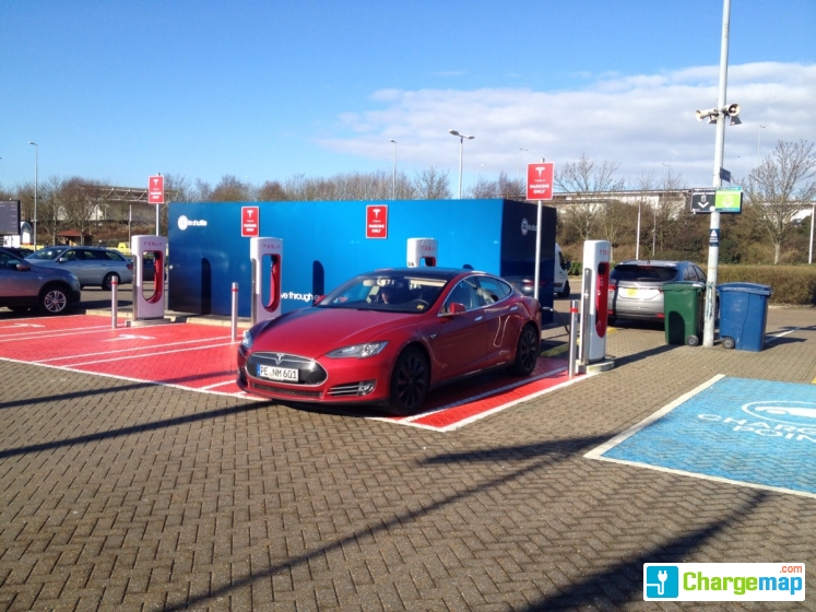 tesla supercharger folkestone borne de charge rapide folkestone. Black Bedroom Furniture Sets. Home Design Ideas