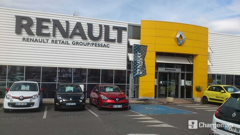 renault retail group pessac borne de charge pessac. Black Bedroom Furniture Sets. Home Design Ideas