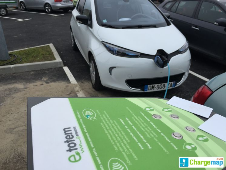 VISION OUEST : charging station in Saint-Genest-Lerpt