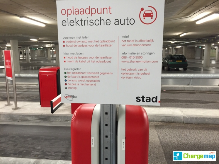 Parkeergarage Boterdiep Oplaadstation In Groningen