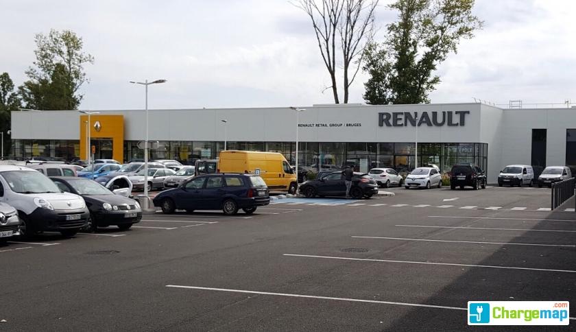 Renault bruges borne de charge bruges for Garage automobile bruges