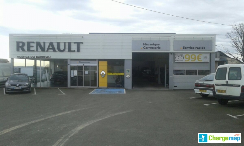 Renault garage du barreau borne de charge l cousse for Garage mobile rennes