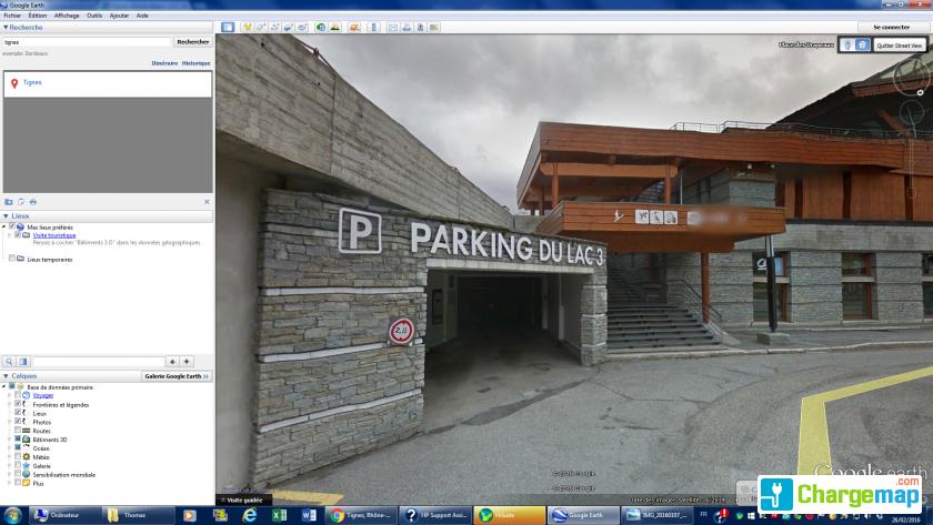 Parking du lac 3 borne de charge tignes for Garage renault bordeaux lac