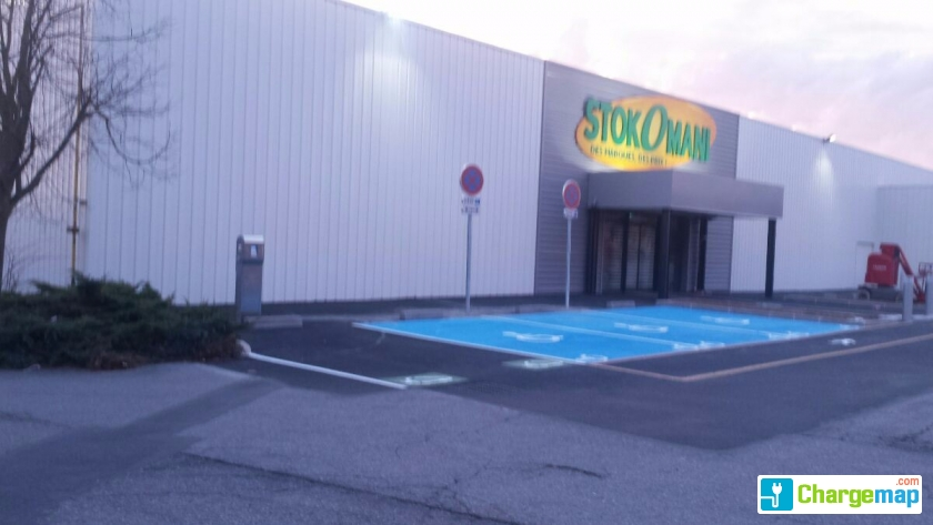 Stockomani parking brico d pot borne de charge beauvais - Horaire brico depot beauvais ...