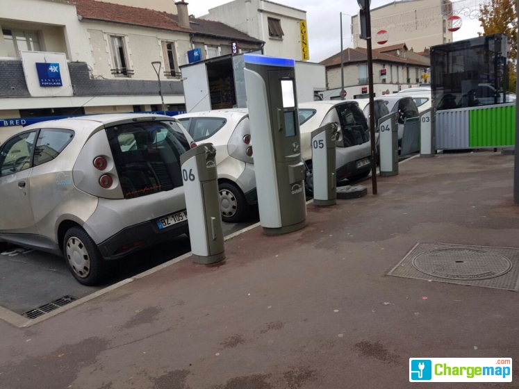 autolib 39 77 rue edouard vaillant bezons charging station in bezons. Black Bedroom Furniture Sets. Home Design Ideas